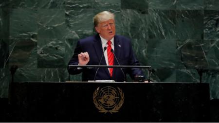 Реч на президента на САЩ Доналд Тръмп пред 74-тата сесия на Общото събрание на ООН