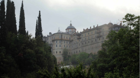The Zografski Monastery on Mount Athos in Northern Greece