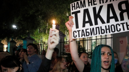 Протест в Минск (илюстративна снимка)