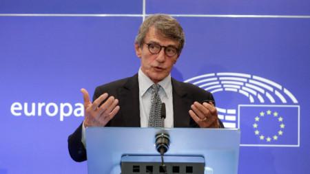 Давид Сасоли, председател на Европейския парламент
