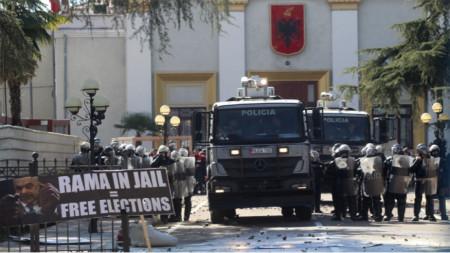 Антиправителствен протест в Албания