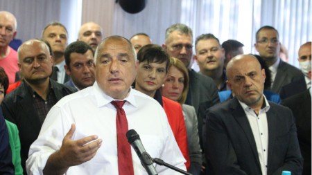 Premier Bojko Borissow (vorn)
