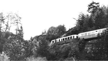 Мотриса на перегоне Света-Петка – Аврамови-Колиби (сегодня Аврамово), 50-е годы ХХ века
