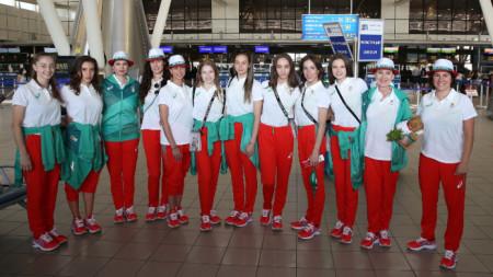 Българките бяха посрещнати подобаващо.