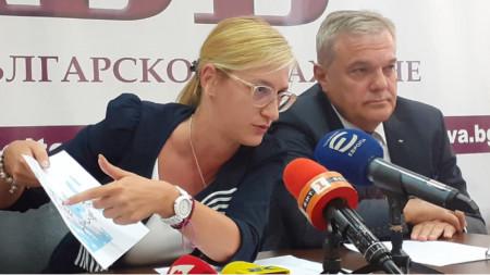 Любомира Ганчева и Румен Петков от АБВ