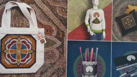 Предмети с мотиви от мозайката в Епископската базилика в Пловдив, които участваха в конкурс
