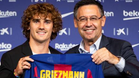 Антоан Гризман има договор за пет години с Барселона, но може да напусне