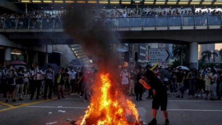 Протести в Хонконг