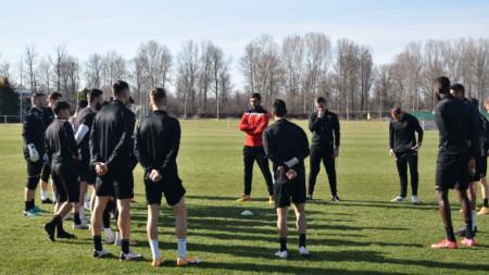 Локо тренира вчера в Герман