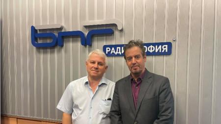 Проф. Александър Костов и Н.П. посланик Фредерик Мьорис