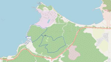 Карта на трасето за бягане