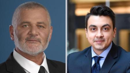 На балотаж за кмет на Силистра бяха кандидатът на ГЕРБ Юлиян Найденов (вляво) и Момчил Неков - МК БСП и други политически сили.