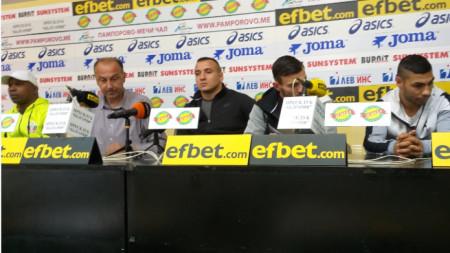 Жоел Арате, Светослав Сапунджиев, Радослав Панталеев и Даниел Асенов (отляво-надясно)