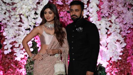 Радж Кундра със съпругата си Шилпа Шети.