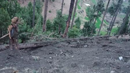 Снимка на пакистанското разузнаване показва последици от въздушните удари на Индия в Кашмир