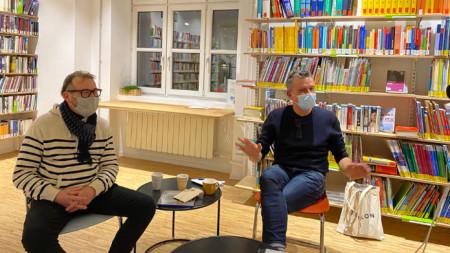 """Красимир Терзиев и Калин Серапионов в подвижното студио на """"Мултикултурни диалози"""""""