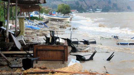 Наводнение в Солун