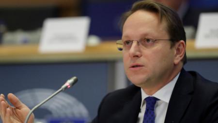 Еврокомисарят по съседство и разширяване Оливер Вархей