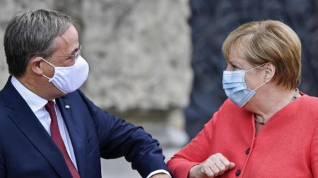 Армин Лашет и Ангела Меркел