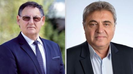 На балотаж за кмет на Шумен бяха кандидатът на ГЕРБ Любомир Христов (вляво) и Венцислав Венков – БСП.