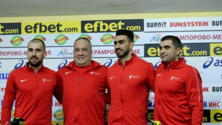 Теодор Георгиев, Слави Бинев, Фарзад Золхадри и Димитър Михайлов (от ляво на дясно).