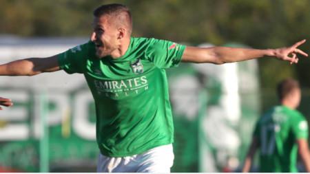 Преслав Йорданов вкара два гола за
