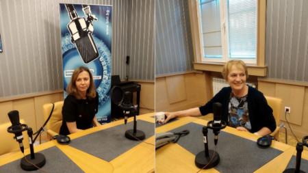 """Ивелина Димитрова и Райна Константинова в студио на програма """"Хоризонт""""."""