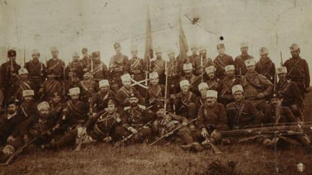 Обединената чета на мичман Тодор Саев и Никола Лефтеров, взела участие в Горноджумайското въстание.