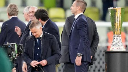 Оле Гунар Солскяр не успя да спечели трофея в Лига Европа.