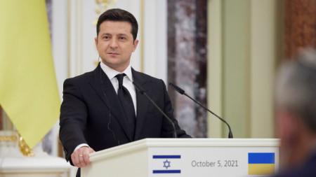 Президентът на Украйна Володомир Зеленски
