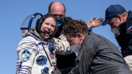 Американската астронавтка Кейт Рубинс.
