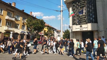 Протестът във Враца