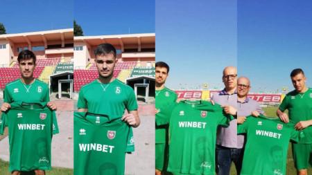 от ляво на дясно: Димитър Буров, Ремзи Неджип, Педро Лагоа, Костадин Ничев