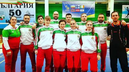 Националният отбор по бадминтон.