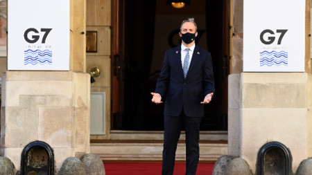 Британският външен министър Доминик Рааб