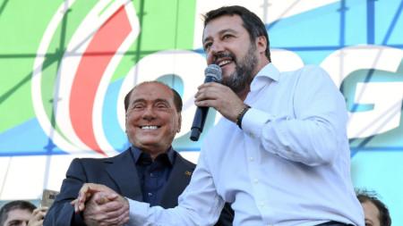 Матео Салвини покани Силвио Берлускони на митинга в Рим