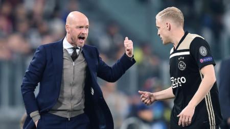 Тен Хаг е горд със своите футболисти.