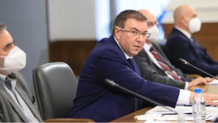 Ministro de Sanidad Kostadín Ánguelov