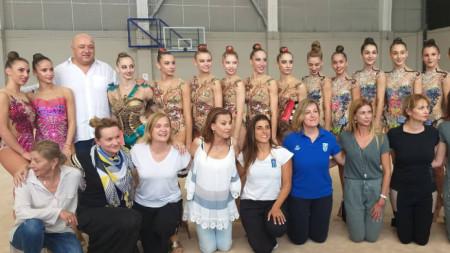 Българската делегация за световното първенство по художествена гимнастика в Баку