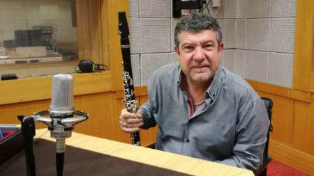 Илия Илиев в студиото на Радио Благоевград