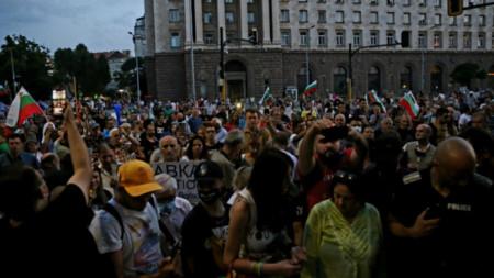 47-а вечер на атниправителствен протест в София