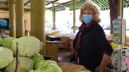 Антиковид мерки на пазара, Пловдив