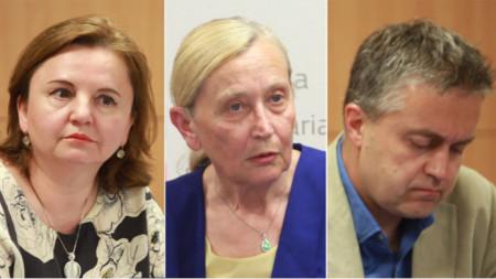 Martschela Abraschewa, Ingrid Schikowa und Wladimir Schopow Fotos: BGNES