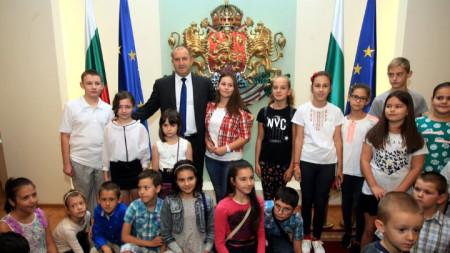 Президентът Румен Радев и посетители в президентството в рамките на инициативата Европейски дни на наследството - 2018 г.