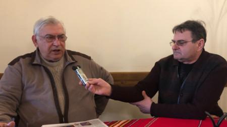Петко Матеев и кореспондентът на БНР Евтим Петков