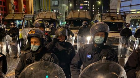 Арести при трети пореден протест в Бристол