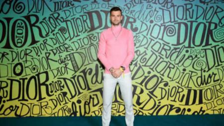 Григор Димитров на ревю на Dior.
