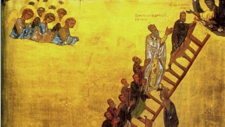Лествицата на добродетелите, икона от Синайския манастир, XII век