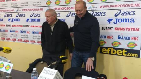 Емил Велев (вдясно) и Стефан Аладжов