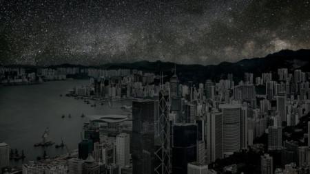 Ето как би изглеждал Хонконг без светлини през нощта.